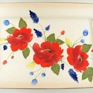 "Pfaltzgraff Scarlett 15"" Rectangle Serving Tray"